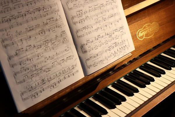 ピアノと楽譜の写真(EC)